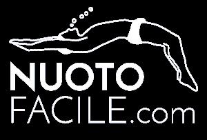 Il Logo di Nuoto Facile in bianco